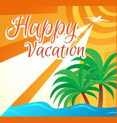 Banner summer holidays vector