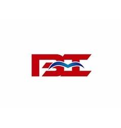BI company linked letter logo vector image vector image