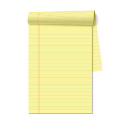 Blank legal pad vector image