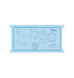 Board with geometric figure vector