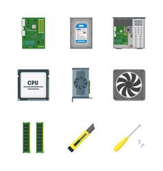 cartoon personal computer components vector image