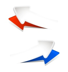 convex arrows vector image