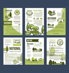 ecology posters set for environment design vector image vector image