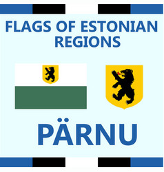 Flag of estonian region laane vector