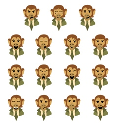 Flat monkey-businessman vector