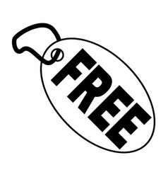 free tag vector image