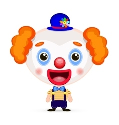funny clown with butterfly vector image vector image