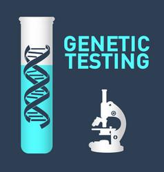 Genetic testing logo icon design vector
