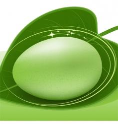 green egg vector image vector image