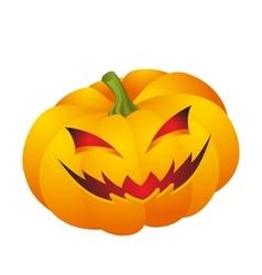 Halloween pumpkin face vector