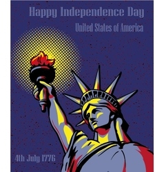 Happy independence day 4 july us holidays concept vector