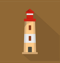 lighthouse icon flat style vector image