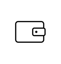 line wallet icon on white background vector image