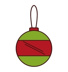 merry christmas ball isolated icon vector image