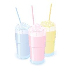 Milkshakes vector