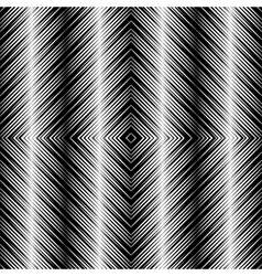 Op Art Design Tiles with Striped Squares Seamless vector image