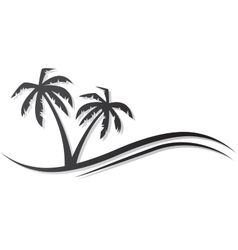 Palms black vector image vector image