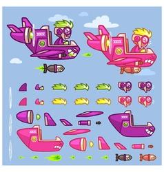 Phantom xxiv plane game sprites vector