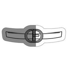 Santa claus belt icon vector