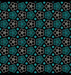 seamless pattern with image of flowers vector image vector image