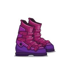 Ski boots vector image
