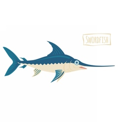 Swordfish cartoon vector image