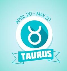Taurus zodiac sign vector