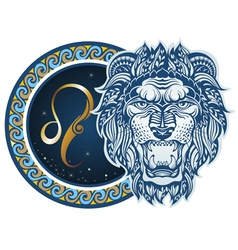 Zodiac signs - Leo vector image vector image