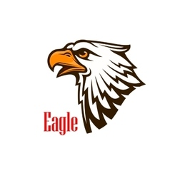Eagle head mascot emblem vector