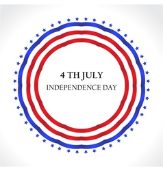 American independence day july 4th greeting card i vector