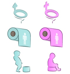 Funny wc signs vector