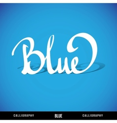 BLUE hand lettering vector image