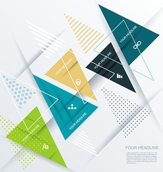 Modern design with paper triangles vector