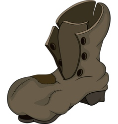Old boot vector