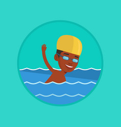 man swimming vector image
