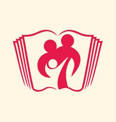Logo of the christian family vector