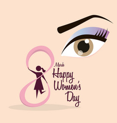 Happy womens day eight march celebration vector