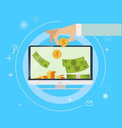 Online earnings banking vector