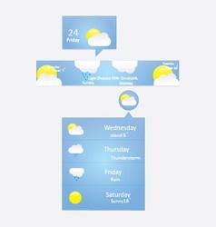 Weather menu vector