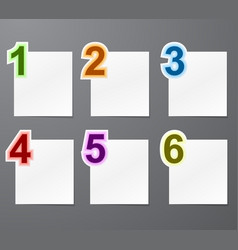 Numbered list design vector image
