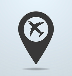 Map pointer with a plane symbol vector