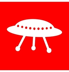 Ufo simple sign vector