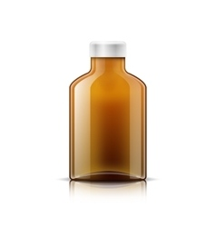 Isolated medicine bottle on white background vector