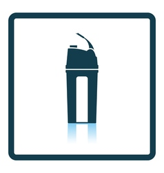 Fitness bottle icon vector