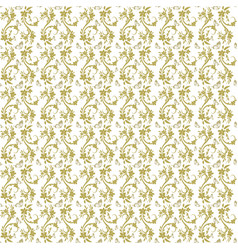 beige flowers and butterflies repeat pattern vector image vector image