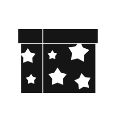 Box magician icon simple style vector image vector image