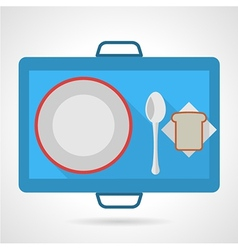 Colored icon for food tray vector
