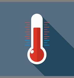 flat Thermometer vector image