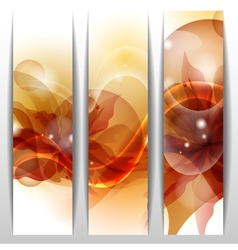 Floral Summer Banners vector image vector image