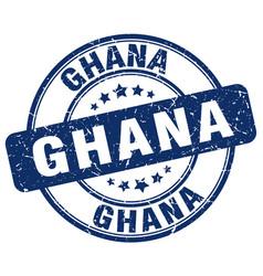 Ghana blue grunge round vintage rubber stamp vector